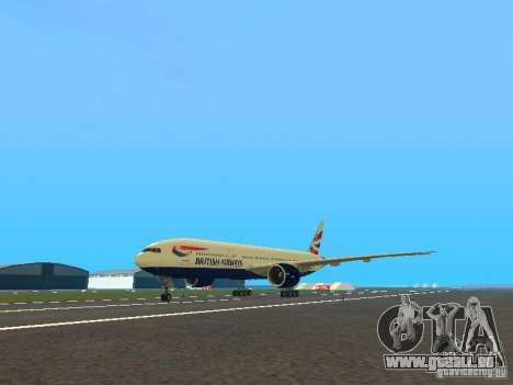 Boeing 777-200 British Airways für GTA San Andreas