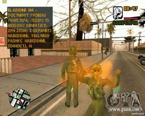Pilote de COD4 pour GTA San Andreas deuxième écran