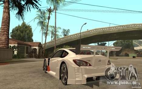 Hyundai Genesis Coupe Pikes Peak pour GTA San Andreas sur la vue arrière gauche