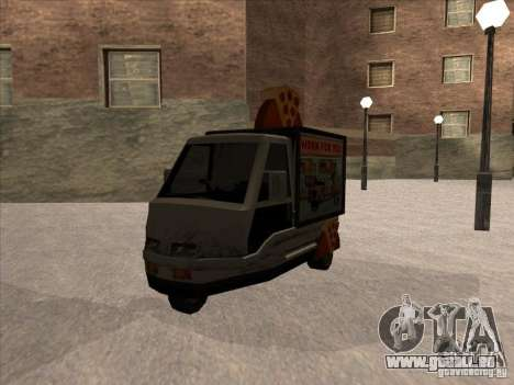 Sweeper Pizza Boy pour GTA San Andreas