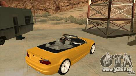 BMW E46 M3 Cabrio pour GTA San Andreas vue de droite