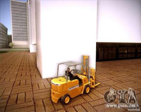 Caterpillar Torocat pour GTA San Andreas laissé vue