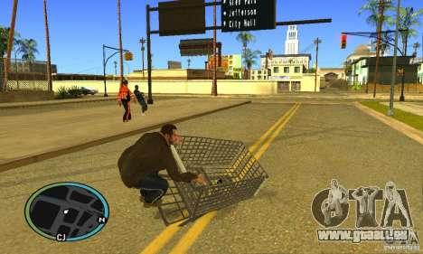 Shopping Cart Faggio V2 pour GTA San Andreas sur la vue arrière gauche