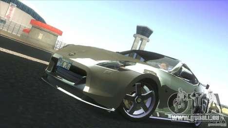 Nissan 370Z Drift 2009 V1.0 pour GTA San Andreas vue intérieure