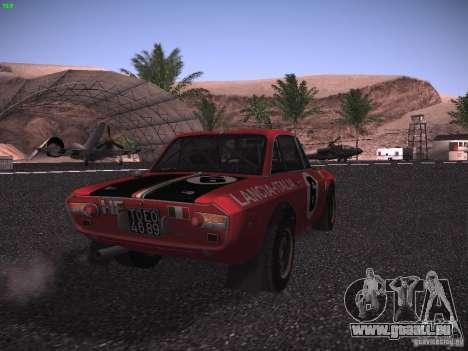 Lancia Fulvia Rally pour GTA San Andreas sur la vue arrière gauche