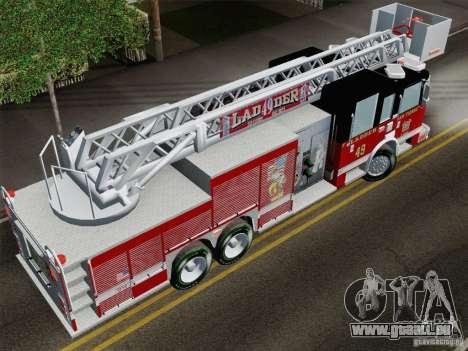 Pierce Rear Mount SFFD Ladder 49 für GTA San Andreas Rückansicht