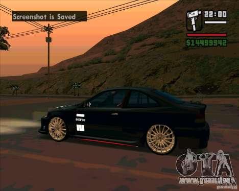 Honda Civic Tuned (corrigé) pour GTA San Andreas laissé vue