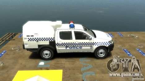 Toyota Hilux Australian Police ELS für GTA 4 rechte Ansicht