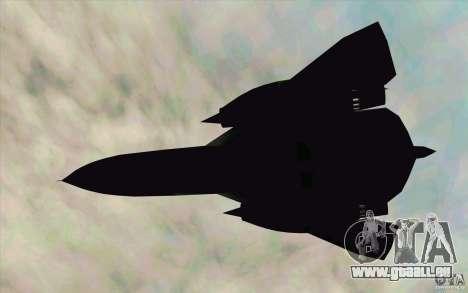 SR-71A BLACKBIRD BETA für GTA San Andreas zurück linke Ansicht