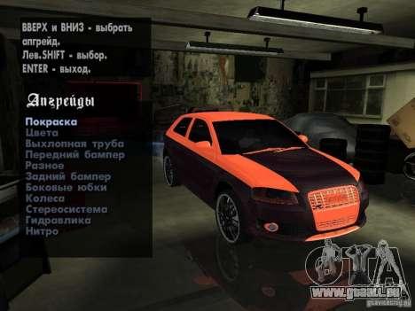 Audi S3 2006 Juiced 2 pour GTA San Andreas vue de côté