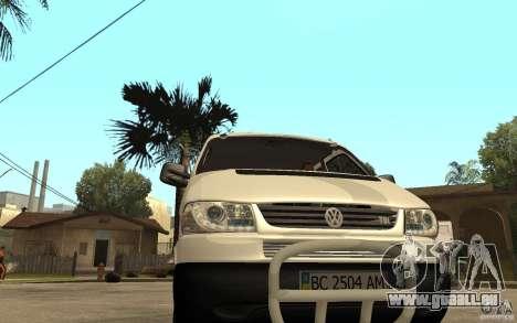 Volkswagen Transporter T4 für GTA San Andreas Rückansicht