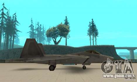F-22 Grey pour GTA San Andreas laissé vue