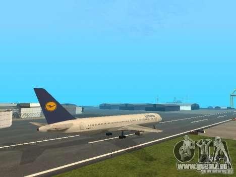 Boeing 767-300 Lufthansa pour GTA San Andreas sur la vue arrière gauche