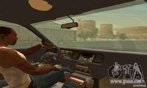 Ford Crown Victoria Wyoming Police pour GTA San Andreas sur la vue arrière gauche