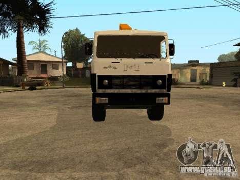 MAZ 54323 DÉPANNEUSE pour GTA San Andreas vue arrière