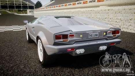 Lamborghini Countach pour GTA 4 Vue arrière de la gauche