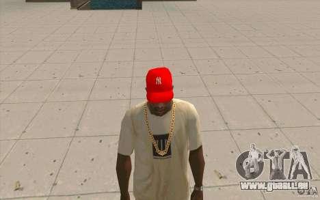 Newyorkyankiys Cap Rouge pour GTA San Andreas deuxième écran