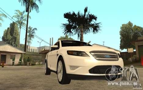 Ford Taurus 2010 für GTA San Andreas Rückansicht