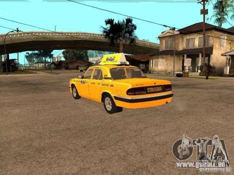 Volga GAZ-31105 Taxi pour GTA San Andreas sur la vue arrière gauche