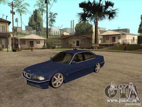 BMW 750i pour GTA San Andreas laissé vue