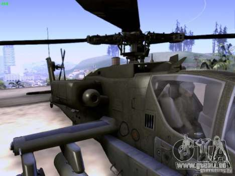 HD Hunter pour GTA San Andreas vue de dessous