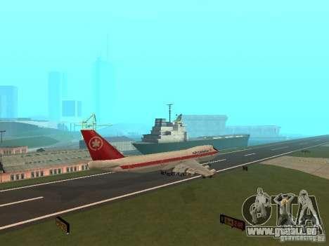 Boeing 747 Air Canada für GTA San Andreas Rückansicht