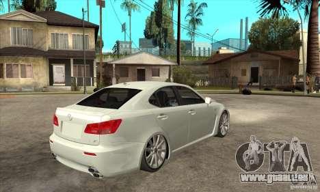 Lexus IS F 2009 pour GTA San Andreas vue intérieure