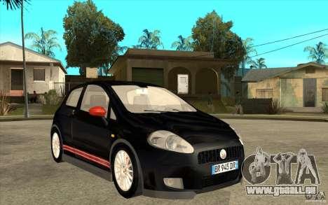 Fiat Grande Punto 3.0 Abarth für GTA San Andreas Rückansicht