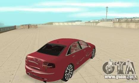 Audi A8L 4.2 FSI pour GTA San Andreas vue de dessus