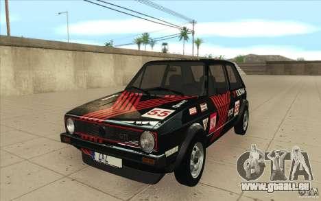 Volkswagen Golf Mk1 - Stock pour GTA San Andreas vue de dessous