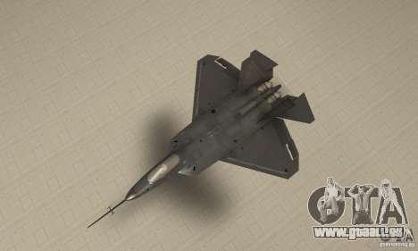 YF-22 Black pour GTA San Andreas vue de droite