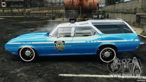 Oldsmobile Vista Cruiser 1972 Police v1.0 [ELS] für GTA 4 linke Ansicht