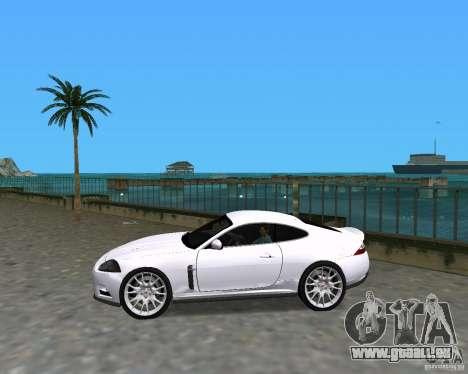 Jaguar XKR S pour une vue GTA Vice City de la gauche