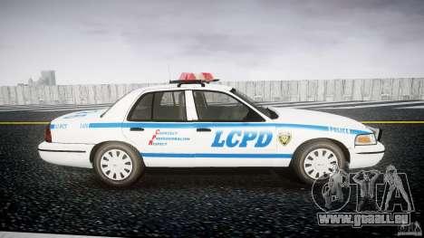 Ford Crown Victoria Police Department 2008 LCPD pour GTA 4 Vue arrière