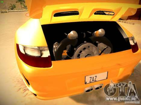 Porsche 911 pour GTA San Andreas vue de dessous
