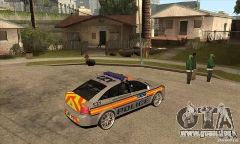 Opel Vectra 2009 Metropolitan Police pour GTA San Andreas vue de droite