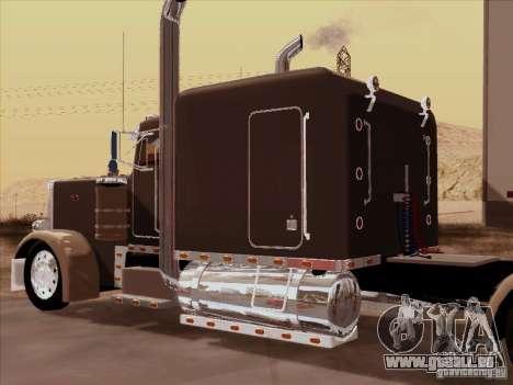 Peterbilt 359 Custom pour GTA San Andreas vue arrière