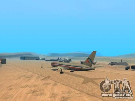 Boeing 767-300 American Airlines für GTA San Andreas Rückansicht