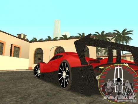 Nouveau compteur de vitesse Lincoln pour GTA San Andreas deuxième écran