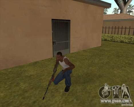AK-74 mit der Textur von Metro 2033 für GTA San Andreas zweiten Screenshot