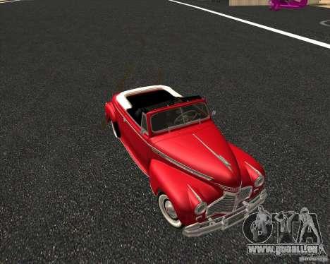 Chevrolet Special DeLuxe 1941 pour GTA San Andreas vue arrière