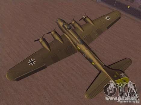 B-17G Flying Fortress für GTA San Andreas rechten Ansicht