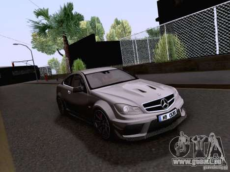 Mercedes-Benz C63 AMG Coupe Black Series für GTA San Andreas