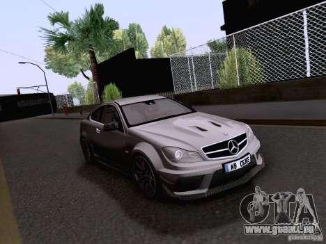 Mercedes-Benz C63 AMG Coupe Black Series pour GTA San Andreas