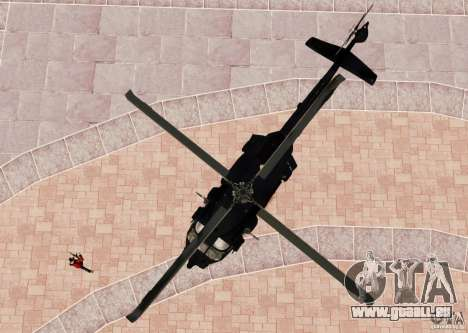 MH-60K Black Hawk pour GTA 4 Vue arrière
