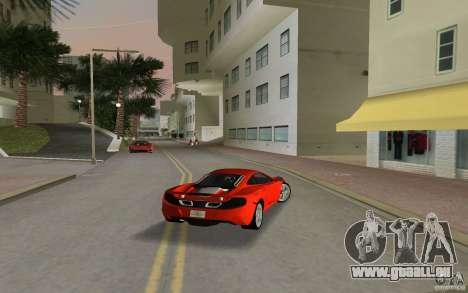 Mclaren MP4-12C für GTA Vice City rechten Ansicht