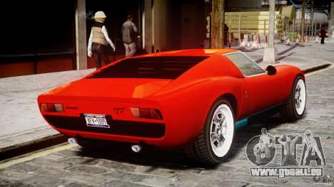 Lamborghini Miura P400 1966 pour GTA 4 est un droit