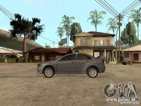 Mitsubishi Lancer EVO X für GTA San Andreas linke Ansicht