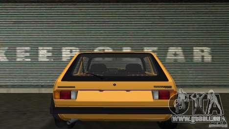 Volkswagen Golf Mk1 GTI pour une vue GTA Vice City de la droite
