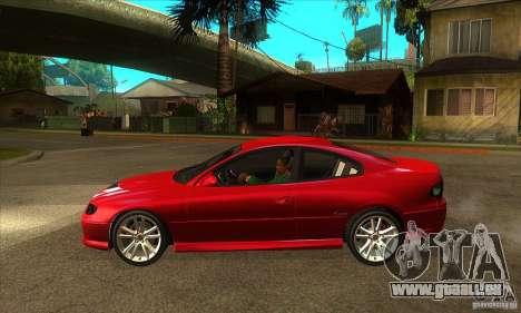 Holden Monaro CV8-R pour GTA San Andreas laissé vue